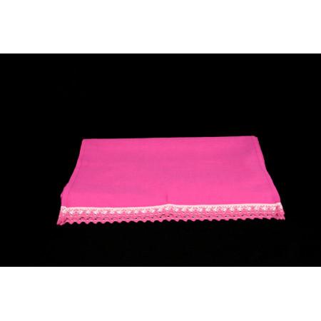 Pink linen towel