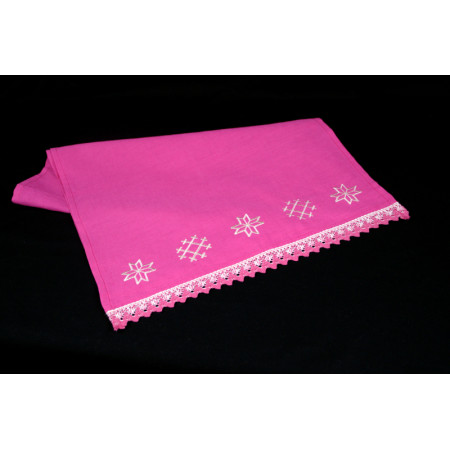 """Embroidered linen towel """"Protection"""""""