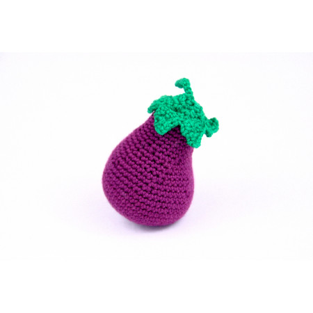 Crocheted eggplant