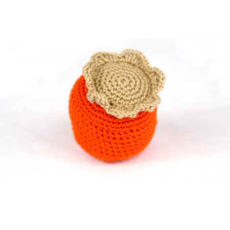 Crocheted persimmon