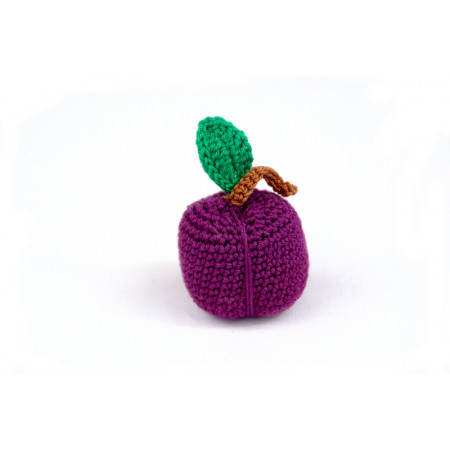 Crocheted plum
