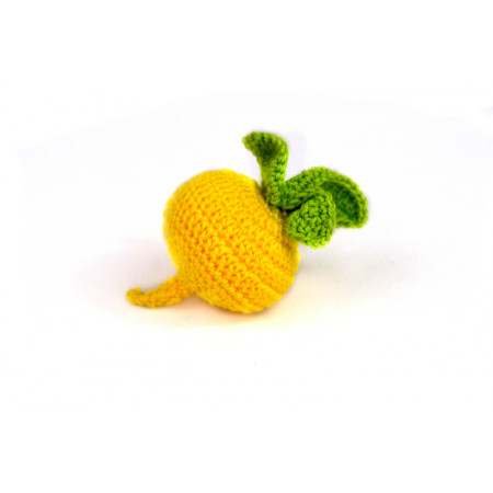 Crocheted turnip