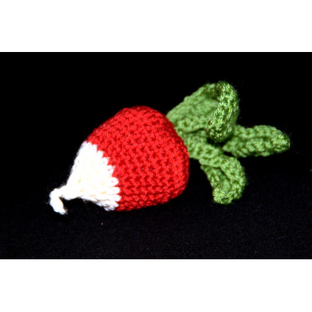 Crocheted radish