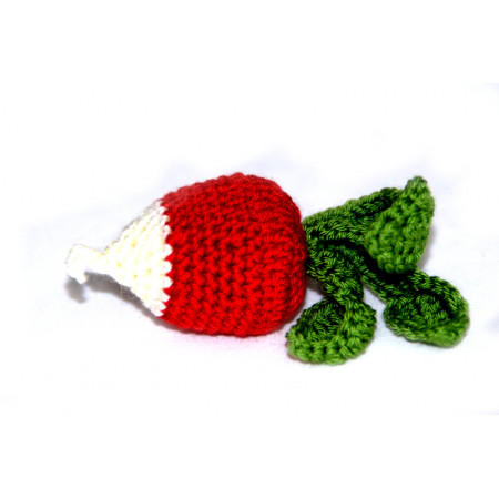 Crocheted radish