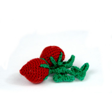 Crocheted strawberries
