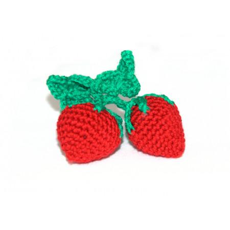 Crocheted strawberries