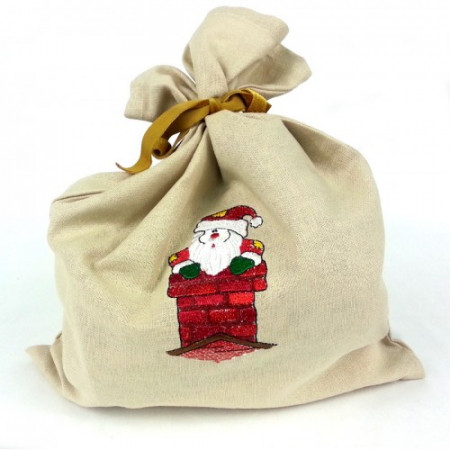 "Gift bag ""Santa in the chimney"""
