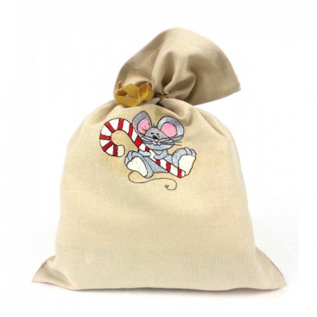 "Gift bag ""Christmas mouse"""