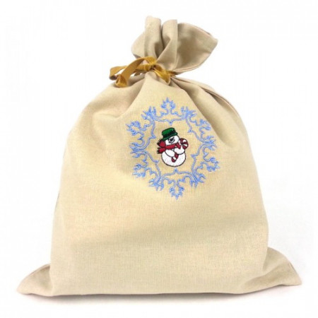 "Gift bag ""Snowman in snowflake"""