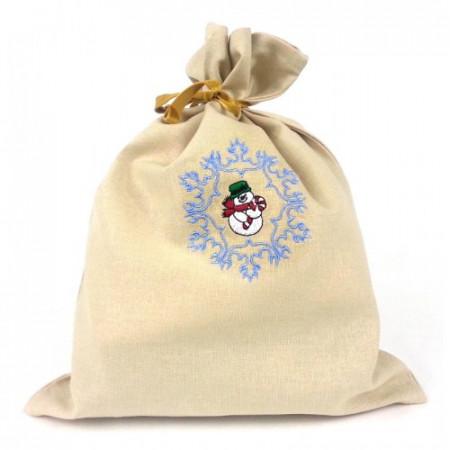"Gift bag ""Snowman in snowflake"""