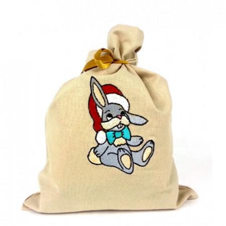 """Gift bag """"Christmas bunny"""""""