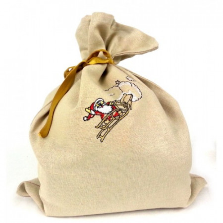 "Gift bag ""Santa in a sleigh"""