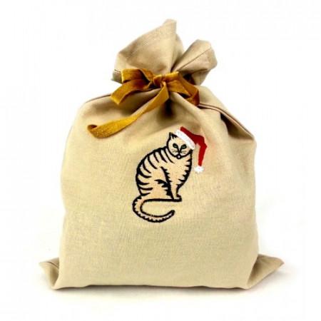 """Gift bag """"Christmas cat"""""""
