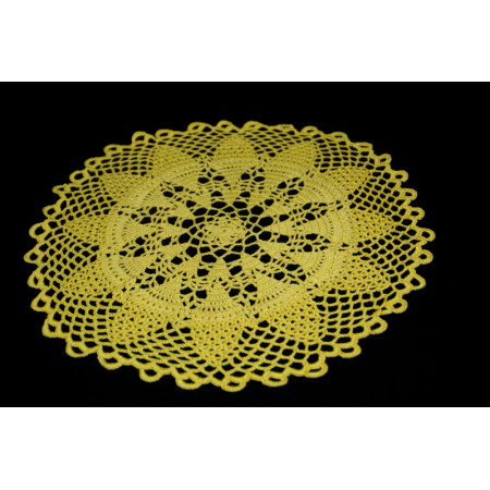"Crocheted table doily ""Dandelion"""