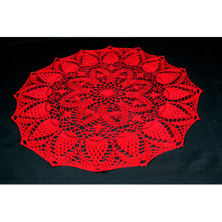 "Crocheted table doily ""Red"""