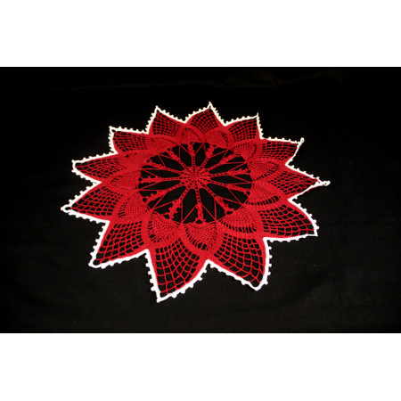 "Crocheted table doily ""Christmas star"""