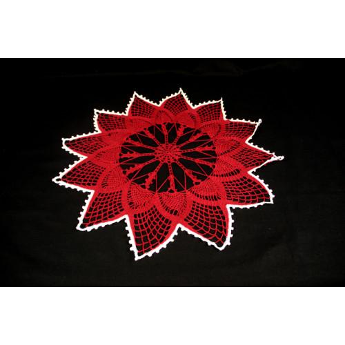 """Crocheted table doily """"Christmas star"""""""