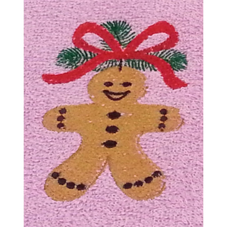 "Terry towel ""Gingerbread man"""