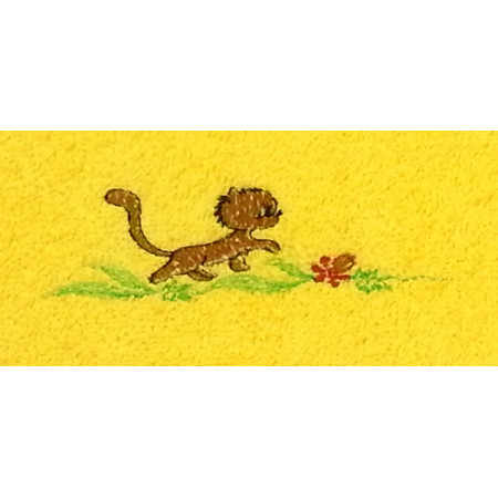 "Terry towel ""Kitty walk"""