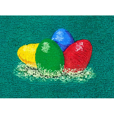 "Terry towel ""Easter eggs"""