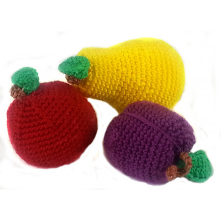 "Crocheted set ""Fruit"""