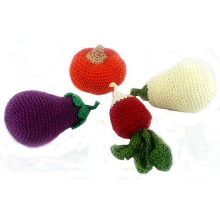 """Crocheted set """"Vegetables"""""""