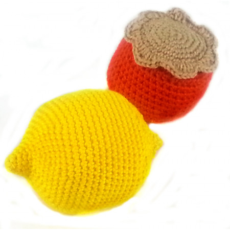"Crocheted set  ""Southern fruit 2"""