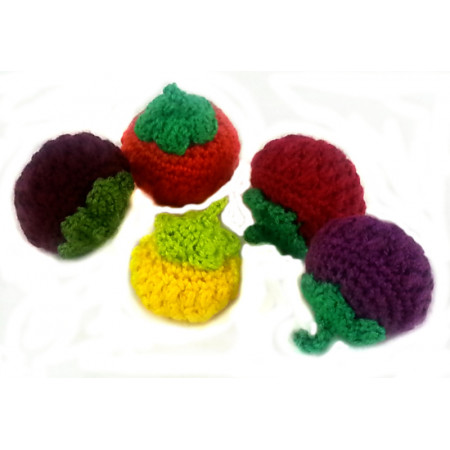 "Crocheted set ""Berries"""
