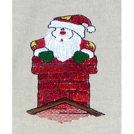 """Gift bag """"Santa in the chimney"""""""