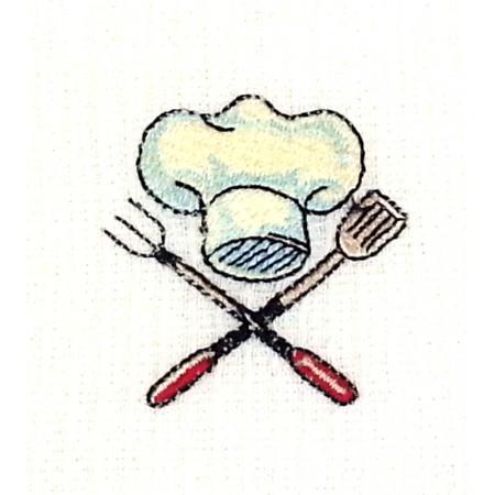 """Waffle cloth towel """"Chef toque"""""""